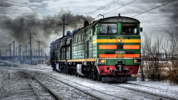 Príchody a odchody turistických vlakov v Spišskom Podhradí